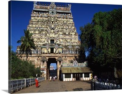 India, Tamil Nadu, Chidambaram, Nataraja Temple, West Gopuram