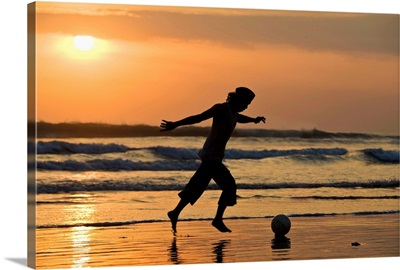 Indonesia, Bali Island, Kuta, South Pacific Ocean, Kuta Beach, Soccer player