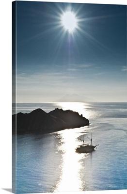 Indonesia, East Nusa Tenggara, Southeast Asia, Komodo, Sunset view from Komodo Island