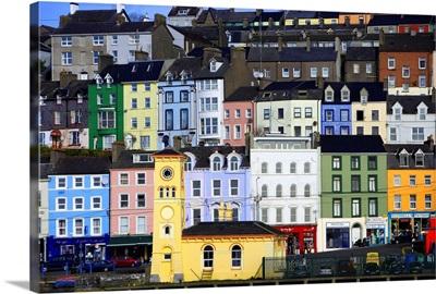 Ireland, Cork, Facades on Cobh Harbor