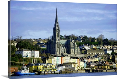 Ireland, Cork, St.Colemans Cathedral on Cobh Harbor