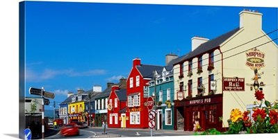Ireland, County Kerry, Dingle village, typical houses