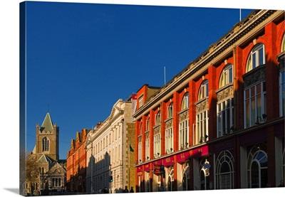 Ireland, Dublin, buildings on Dame Street