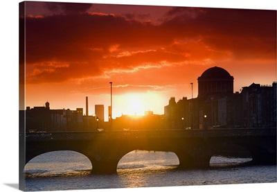 Ireland, Dublin, Sunset