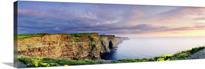 Ireland, Galway, Sunset on Cliffs of Moher