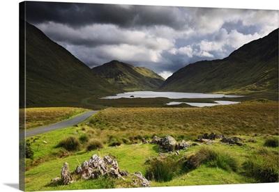Ireland, Mayo, Westport, Landscape in the Doolough Pass