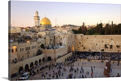 Israel, Jerusalem, Dome of the Rock, Western Wall, Wailing Wall, Middle East