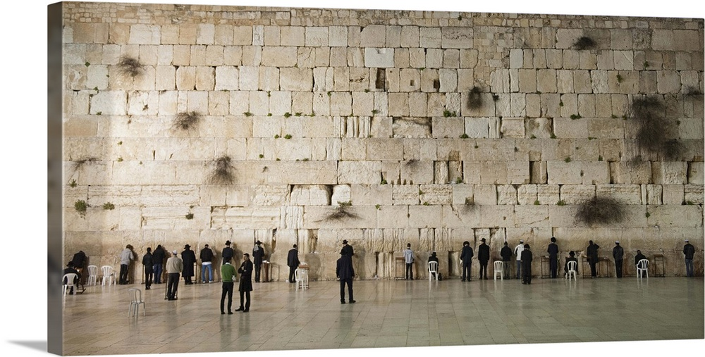 Israel, Jerusalem, Jerusalem, Western Wall, Wailing Wall, Men Praying