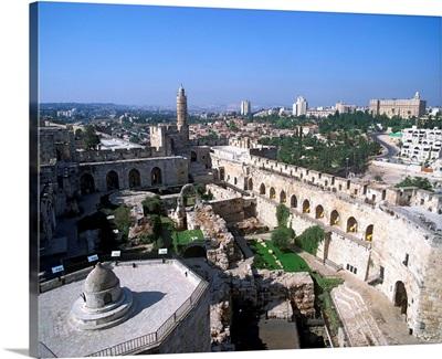 Israel, Jerusalem, View of the Citadel