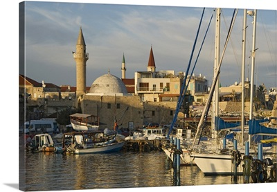 Israel, Northern District, Acre, Middle East, Galilee, The harbor and the city walls