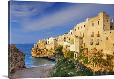 Italy, Apulia, Mediterranean sea, Adriatic Coast, Bari district, Murge, Polignano a Mare