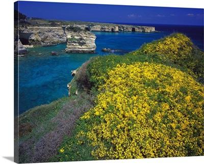 Italy, Apulia, Otranto, Baia dei Turchi