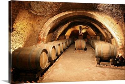 Italy, Basilicata, Vulture, Rionero in Vulture, Cantina del Notaio wine cellar