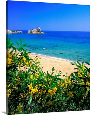 Italy, Calabria, Ionian Coast, Le Castella in spring