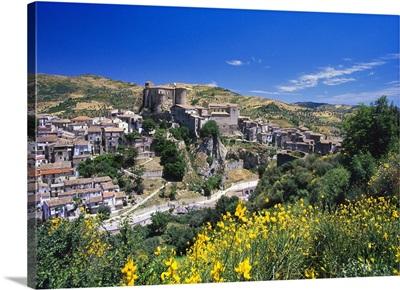 Italy, Calabria, Mediterranean area, Cosenza district, Oriolo, View of the village
