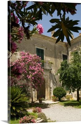 Italy, Calabria, Mediterranean area, Crotone district, Caccuri, Entrance of the castle