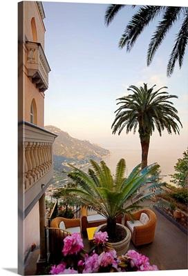 Italy, Campania, Amalfi Coast, Peninsula of Sorrento, Ravello, Hotel Parsifal