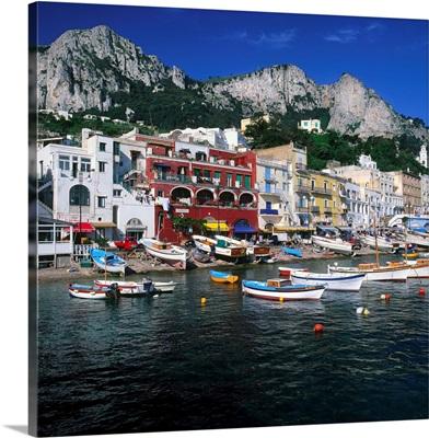 Italy, Campania, Capri, Marina Grande, harbor