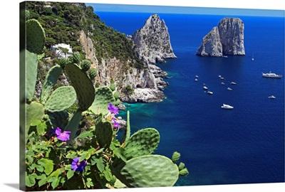 Italy, Campania, Capri, The Faraglioni