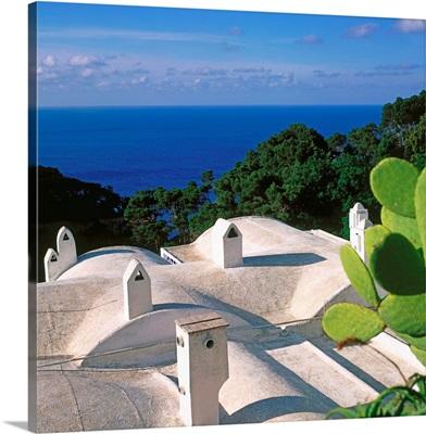 Italy, Campania, Capri, typical roof