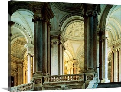 Italy, Campania, Caserta, Royal Palace of Caserta, great royal staircase