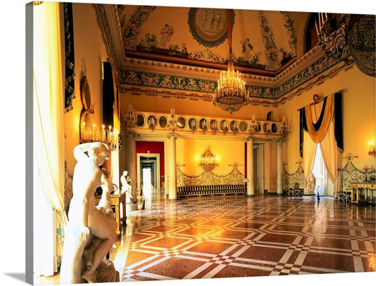 Italy, Campania, Naples, Royal Palace of Capodimonte, Party\'s Hall ...