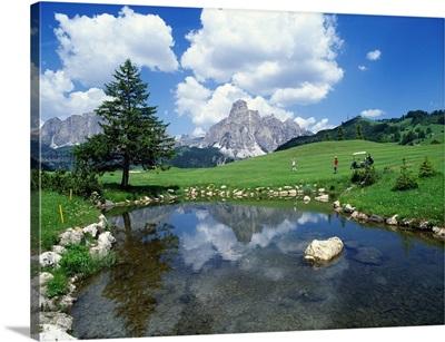 Italy, Dolomites, Alta Badia, Corvara, Alta Badia Golf Club
