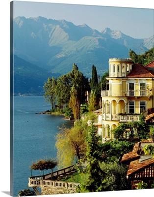 Italy, Lake Como, Corenno Plinio, villa
