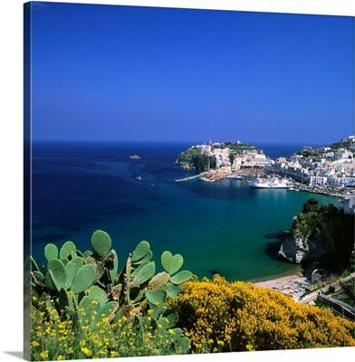 Italy, Latium, Ponza, Bourbon harbor