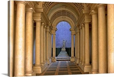 Italy, Latium, Rome, Palazzo Spada, gallery by Borromini