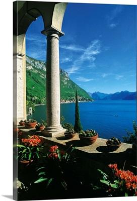 Italy, Lombardy, Alps, Como Lake, Varenna, The column of Villa Monastero