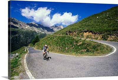 Italy, Lombardy, Alps, Passo Gavia