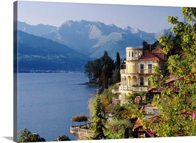 Italy, Lombardy, Como Lake, Corenno Plinio, villa