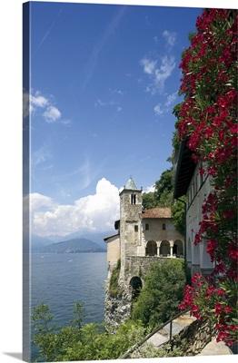 Italy, Lombardy, Lake Maggiore, Laveno, The Eremo of Santa Caterina del Sasso