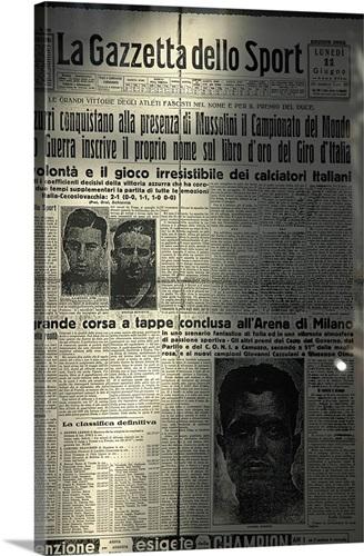 Italy, Lombardy, Milan, Old copy of La Gazzetta dello Sport ...