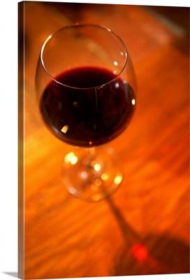 Italy, Marche, Monte Conero, Poggio village, Osteria del Poggio, Red Conero wine