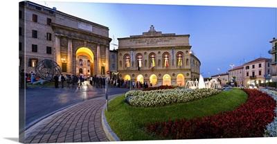 Italy, Marches, Macerata, Sferisterio Theatre during Lyrical Season