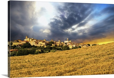 Italy, Marches, Tolentino, Mediterranean area, Macerata district, sunset