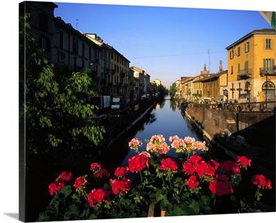 Italy, Milan, The Naviglio Grande