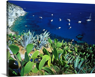 Italy, Ponza, Latium, View of Punta dell'incenso