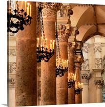 Italy, Puglia, Santa Croce Church, baroque stuccoes