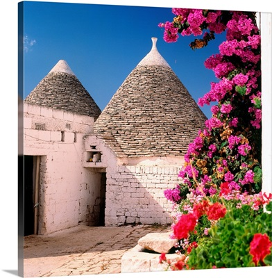 Italy, Puglia, Valle d'Itria, Trulli, typical houses