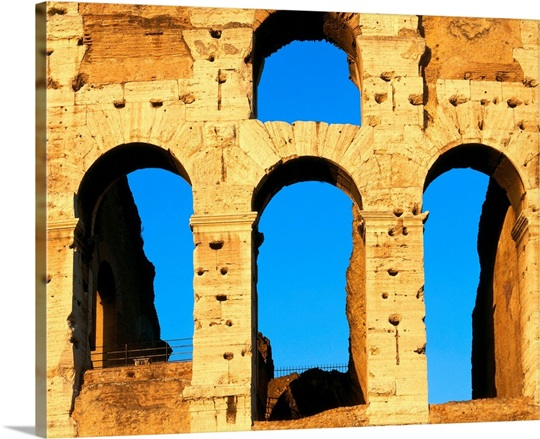 Italy, Rome, Coliseum, close-up Wall Art, Canvas Prints, Framed ...