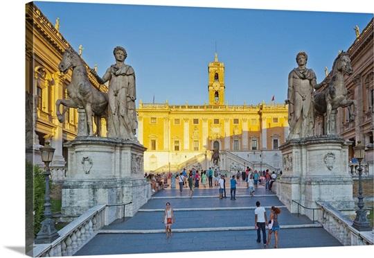 Italy, Rome, Piazza del Campidoglio, Cordonata staircase Wall Art ...