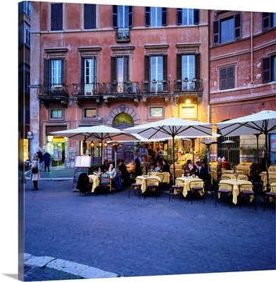 Italy, Rome, Piazza Navona, typical restaurant, Cafe Bernini