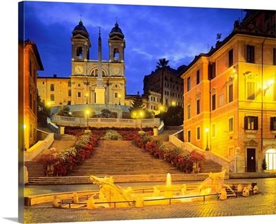Italy, Rome, Spanish Steps, Trinita dei Monti