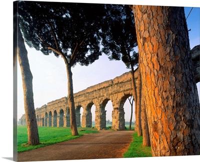 Italy, Rome, Via Appia, Claudio Aqueduct