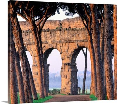 Italy, Rome, Via Appia Nuova, Claudio Aqueduct