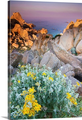 Italy, Sardinia, Typical granite rock formations of Gallura