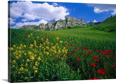 Italy, Sicily, Castle of Pietraperzia